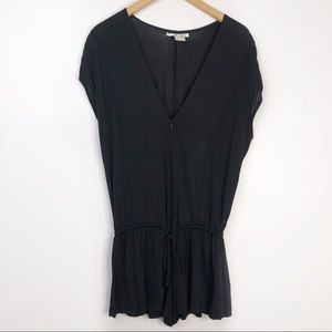 Alice & Olivia Black Zipper Romper